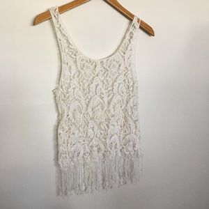 Crochet Top Sz Juniors L